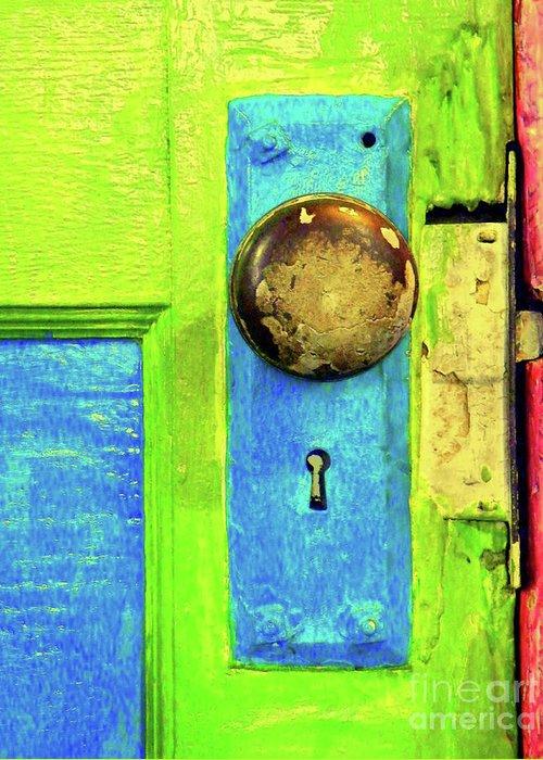 Door Greeting Card featuring the photograph Mercado Door by Joe Jake Pratt