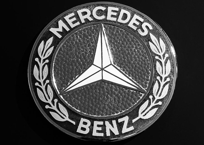 Mercedes benz 190sl emblem greeting card for sale by jill for Mercedes benz badges for sale