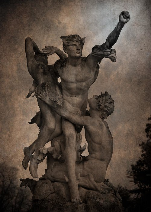 Loriental Greeting Card featuring the photograph Mercury Carrying Eurydice To The Underworld by Loriental Photography
