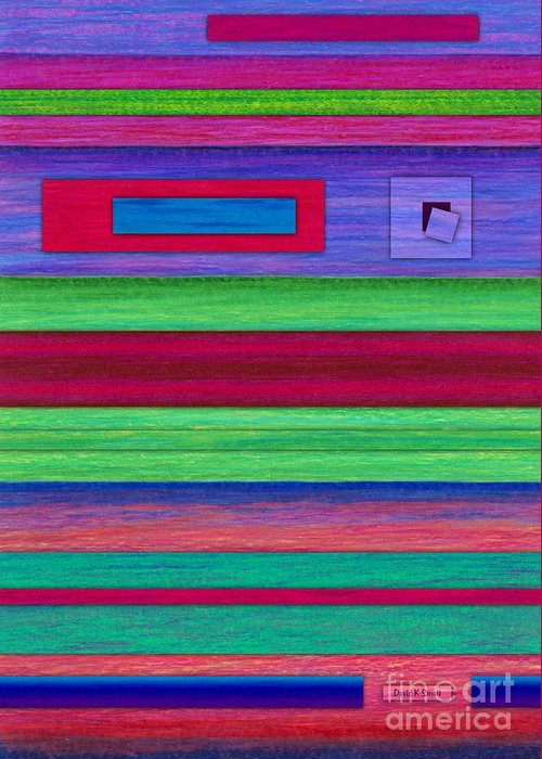Colored Pencil Greeting Card featuring the painting Merger by David K Small