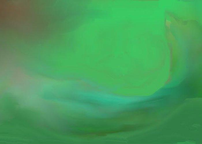 Mermaid Art Prints Greeting Card featuring the digital art Mermaid by Jessica Wright