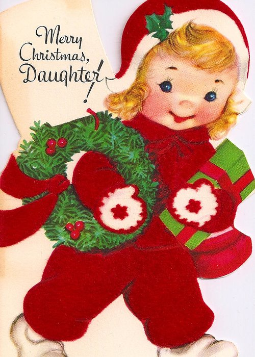 Daughter Greeting Card featuring the photograph Merry Christmas Daughter by Munir Alawi