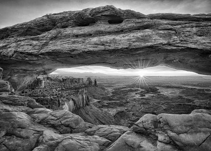 Moab Greeting Card featuring the photograph Mesa Arch Sunrise by Stacy White