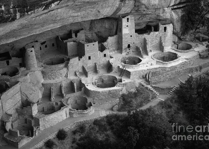 Mesa Verde Greeting Card featuring the photograph Mesa Verde Monochrome by Bob Christopher