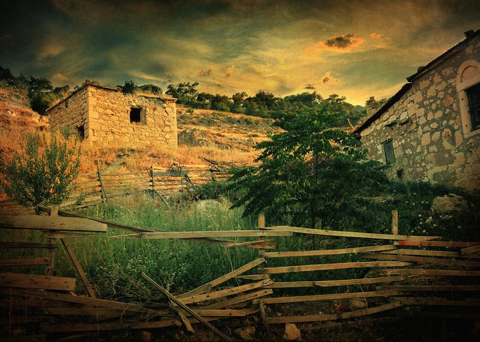 Village Greeting Card featuring the photograph Mesmer by Taylan Apukovska