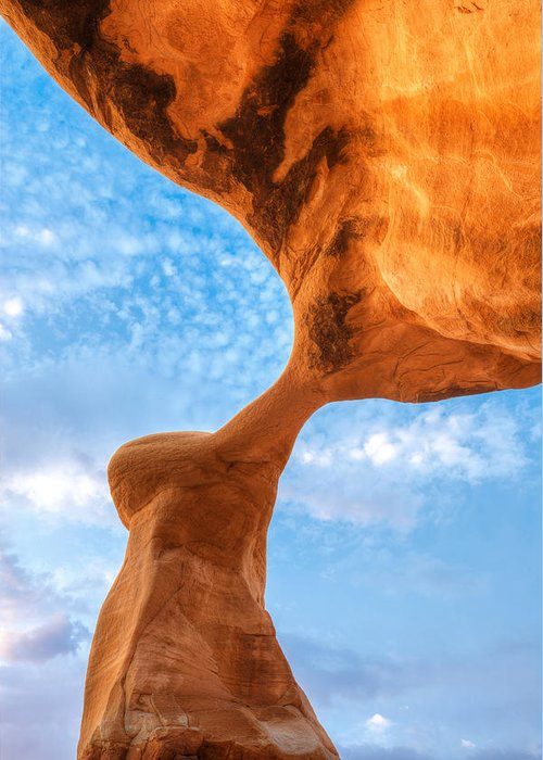 Utah Greeting Card featuring the photograph Metate by Dustin LeFevre