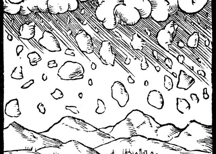 Meteor Drawings Greeting Cards