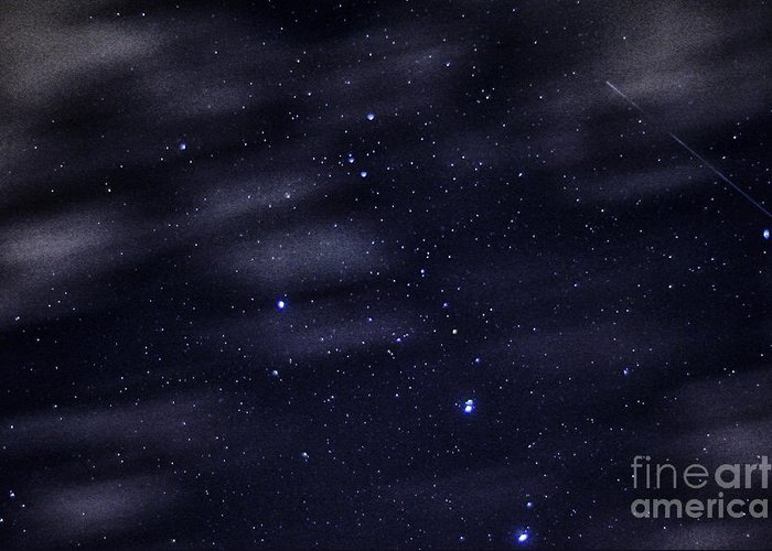 Stars Greeting Card featuring the photograph Meteor Stars And Clouds by Thomas R Fletcher