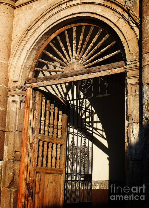 North America Greeting Card featuring the photograph Mexican Door 27 by Xueling Zou