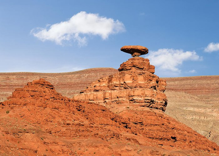 Sombrero Greeting Card featuring the photograph Mexican Hat Rock by Christine Till