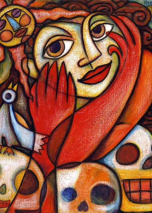 Mexicana Greeting Card featuring the painting Mexicana by Paul Honatke