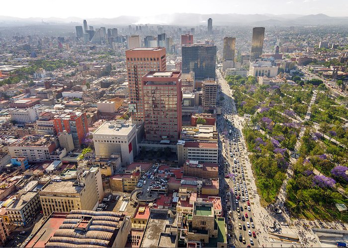 Mexico Greeting Card featuring the photograph Mexico City Cityscape by Jess Kraft