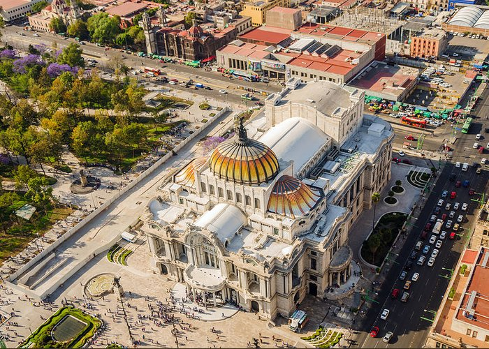 Mexico Greeting Card featuring the photograph Mexico City Fine Arts Museum by Jess Kraft