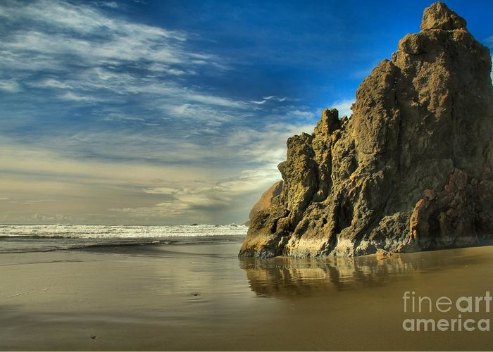 Meyers Creek Greeting Card featuring the photograph Meyers Beach Stacks by Adam Jewell