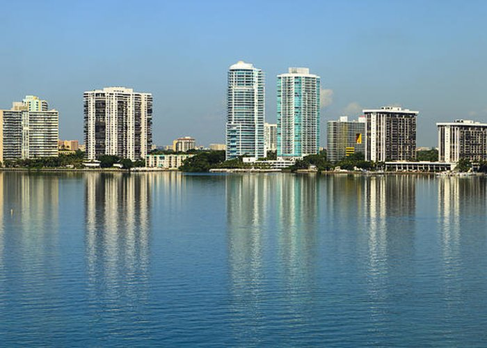 Architecture Greeting Card featuring the photograph Miami Brickell Skyline by Raul Rodriguez