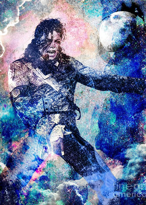 Rock Greeting Card featuring the painting Michael Jackson Original Painting by Ryan Rock Artist