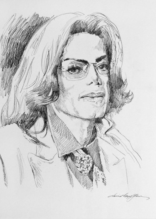 Michael Jackson Sketch Greeting Cards