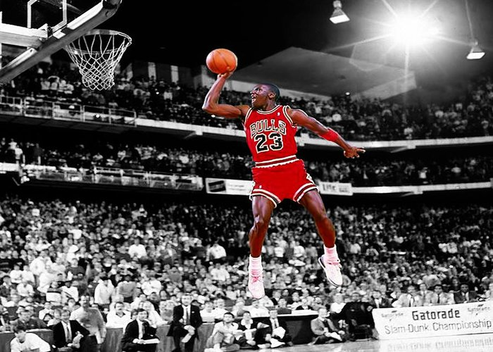 2fc6c9c30de572 Michael Jordan Slam Dunk Contest Greeting Card for Sale by Brian Reaves