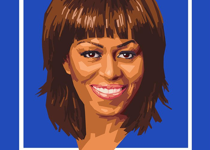 Michelle Greeting Card featuring the digital art Michelle by Douglas Simonson