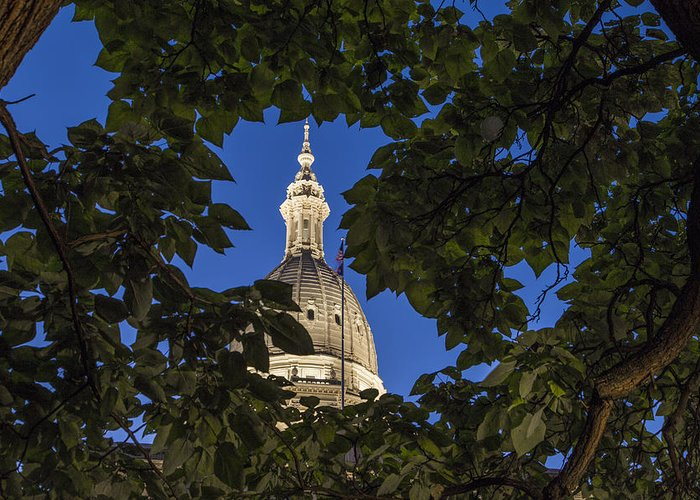 Michigan capitol art fine art america michigan capitol greeting cards malvernweather Images
