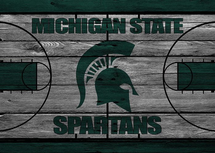 Spartans Greeting Card featuring the photograph Michigan State Spartans by Joe Hamilton