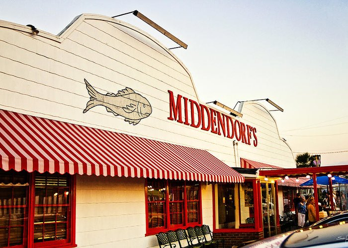 Middendorf's Greeting Card featuring the photograph Middendorf's by Scott Pellegrin