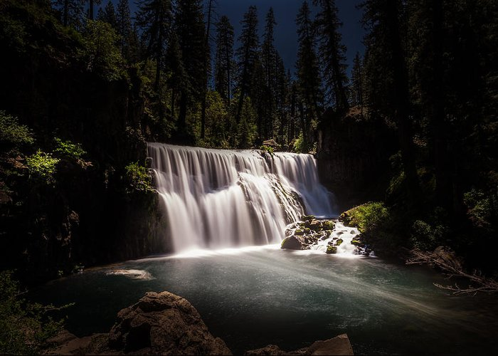 California Greeting Card featuring the photograph Middle Mccloud Falls by Scott McGuire