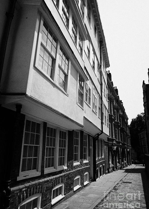 Entrance Greeting Card featuring the photograph middle temple lane London England UK by Joe Fox