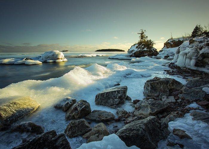Bay Greeting Card featuring the photograph Middlebrun Bay Sunset II by Jakub Sisak