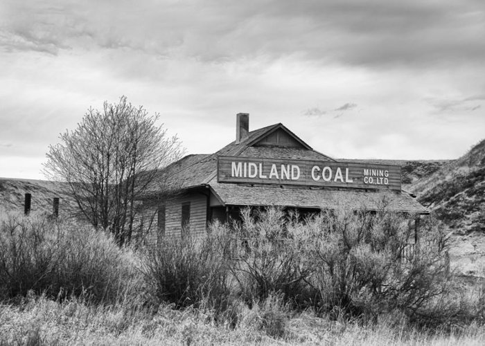 Alberta Badlands Greeting Card featuring the photograph Midland Coal Mining Co. by Guy Whiteley