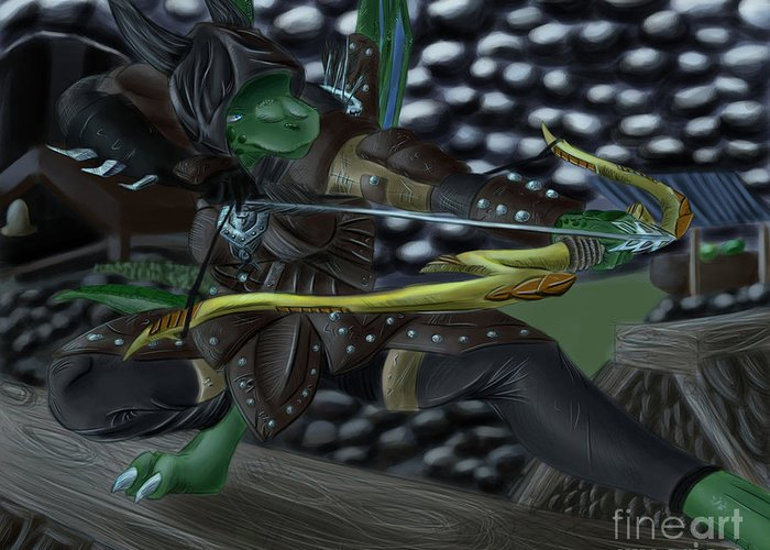 Assassin Greeting Card featuring the digital art Midnight Assassin by Zoey Richards