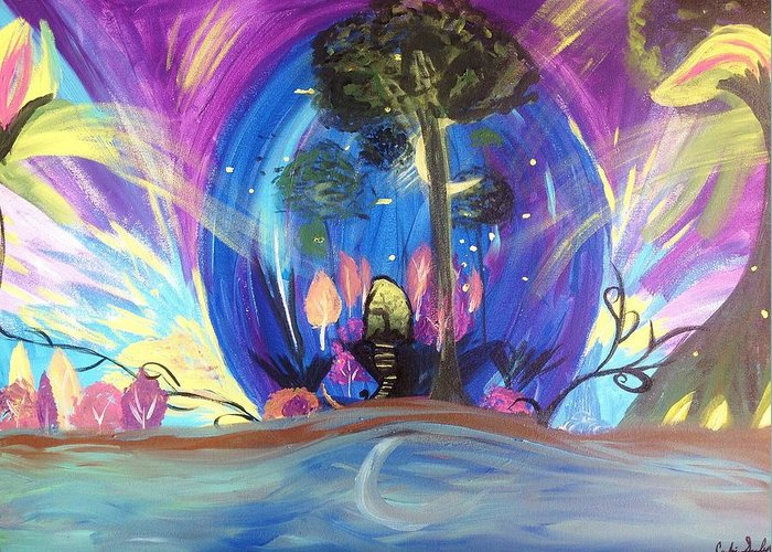 Fairy Greeting Card featuring the painting Midnight Ball by Candice Szymborski