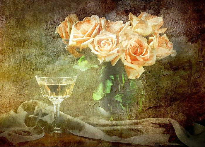 Still Life Greeting Card featuring the photograph After Midnight by Diana Angstadt