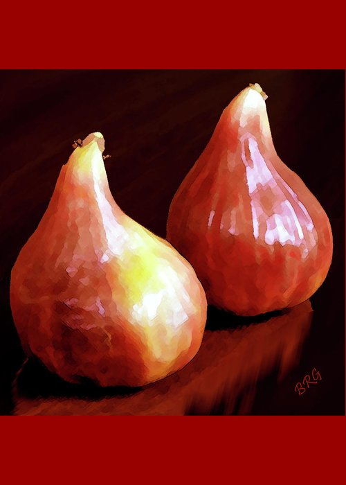 Still Life Greeting Card featuring the photograph Midnight Figs by Ben and Raisa Gertsberg