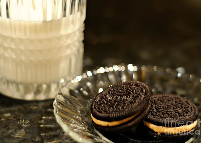 Cookies Greeting Card featuring the photograph Midnight Snack by Lois Bryan