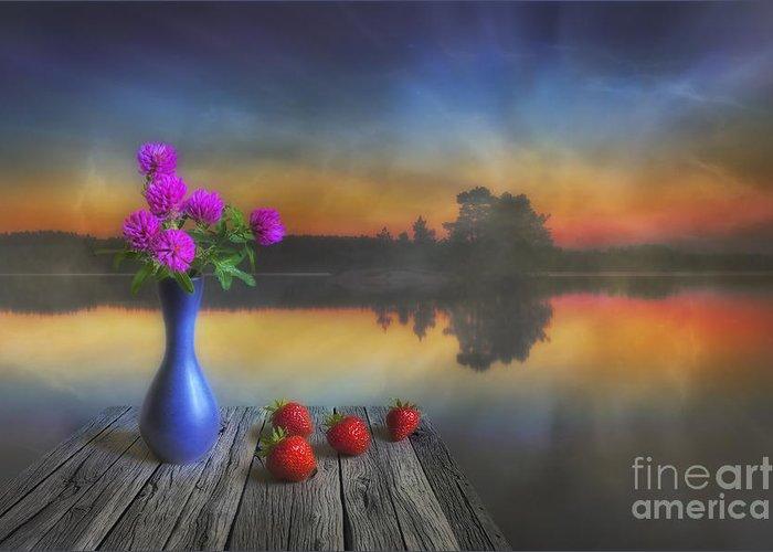 Art Greeting Card featuring the photograph Midsummer by Veikko Suikkanen