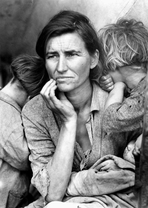 1936 Greeting Card featuring the photograph Migrant Mother, 1936 by Granger