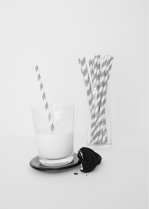 Glass Greeting Card featuring the photograph Milk And Cookies by Heather Provan