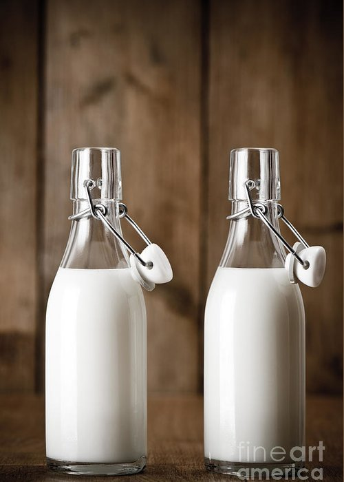 Pint Milk Bottle Greeting Cards