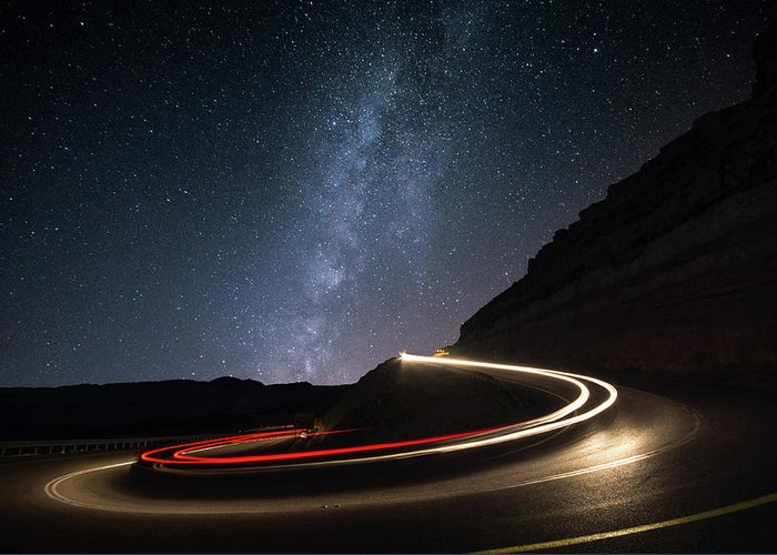 Milkyway Greeting Card featuring the photograph Milky Way Over Mitzpe Ramon by Erez Vansover