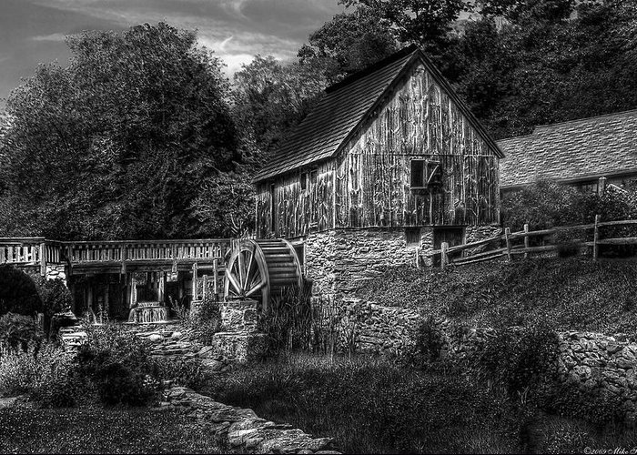 Savad Greeting Card featuring the photograph Mill - The Mill by Mike Savad