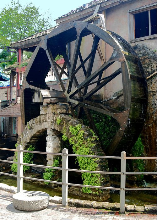 Mill Greeting Card featuring the photograph Water Wheel by Joedes Photography