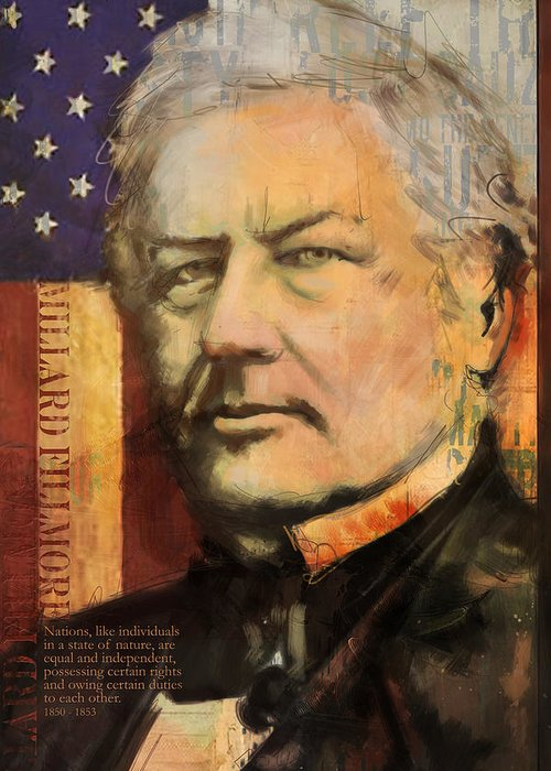 Millard Fillmore Greeting Card featuring the painting Millard Fillmore by Corporate Art Task Force