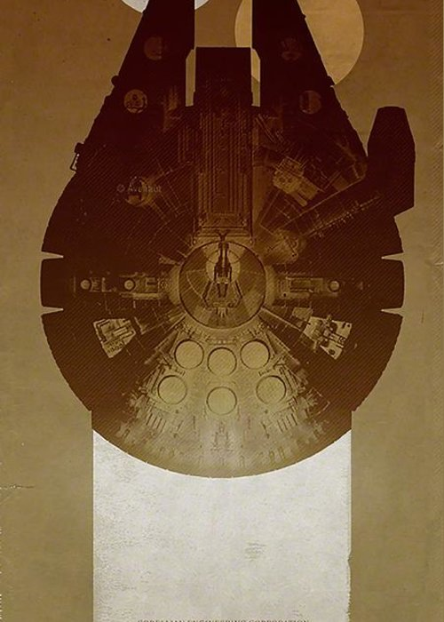 Millennium Falcon Greeting Cards