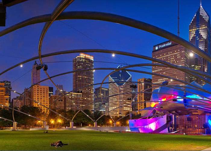 Kevin Eatinger Greeting Card featuring the photograph Millennium Park Pritzker Pavilion by Kevin Eatinger