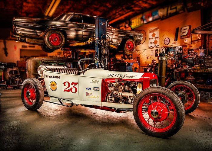 Car Greeting Card featuring the photograph Millers Chop Shop Track T Toyota by Yo Pedro