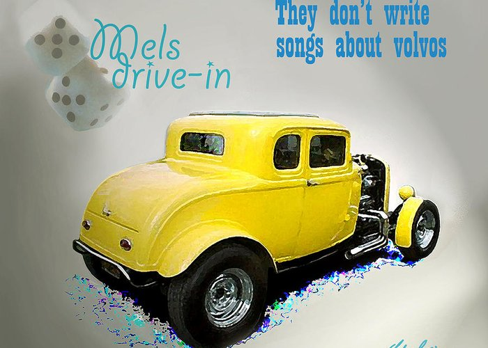 Milners Yellow Deuce Coupe Greeting Cards