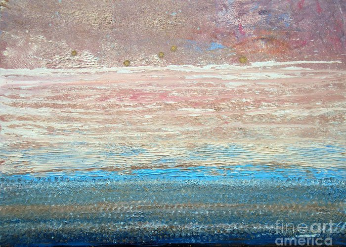Textured Greeting Card featuring the painting Mindscape 2013 by Laura Tasheiko