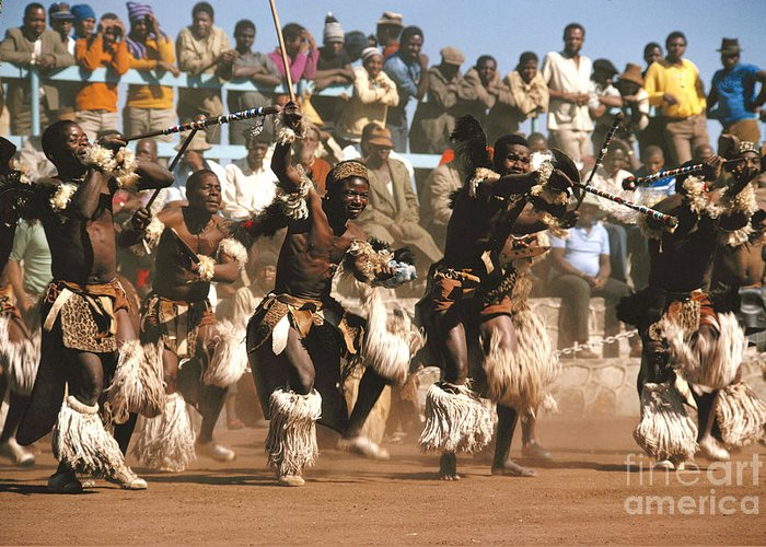 South Africa Greeting Card featuring the photograph Mine Dancers South Africa by Susan McCartney