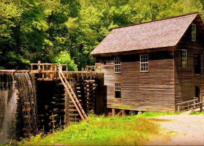 Mingus Mill Greeting Card featuring the photograph Mingus Mill by Karen Wiles